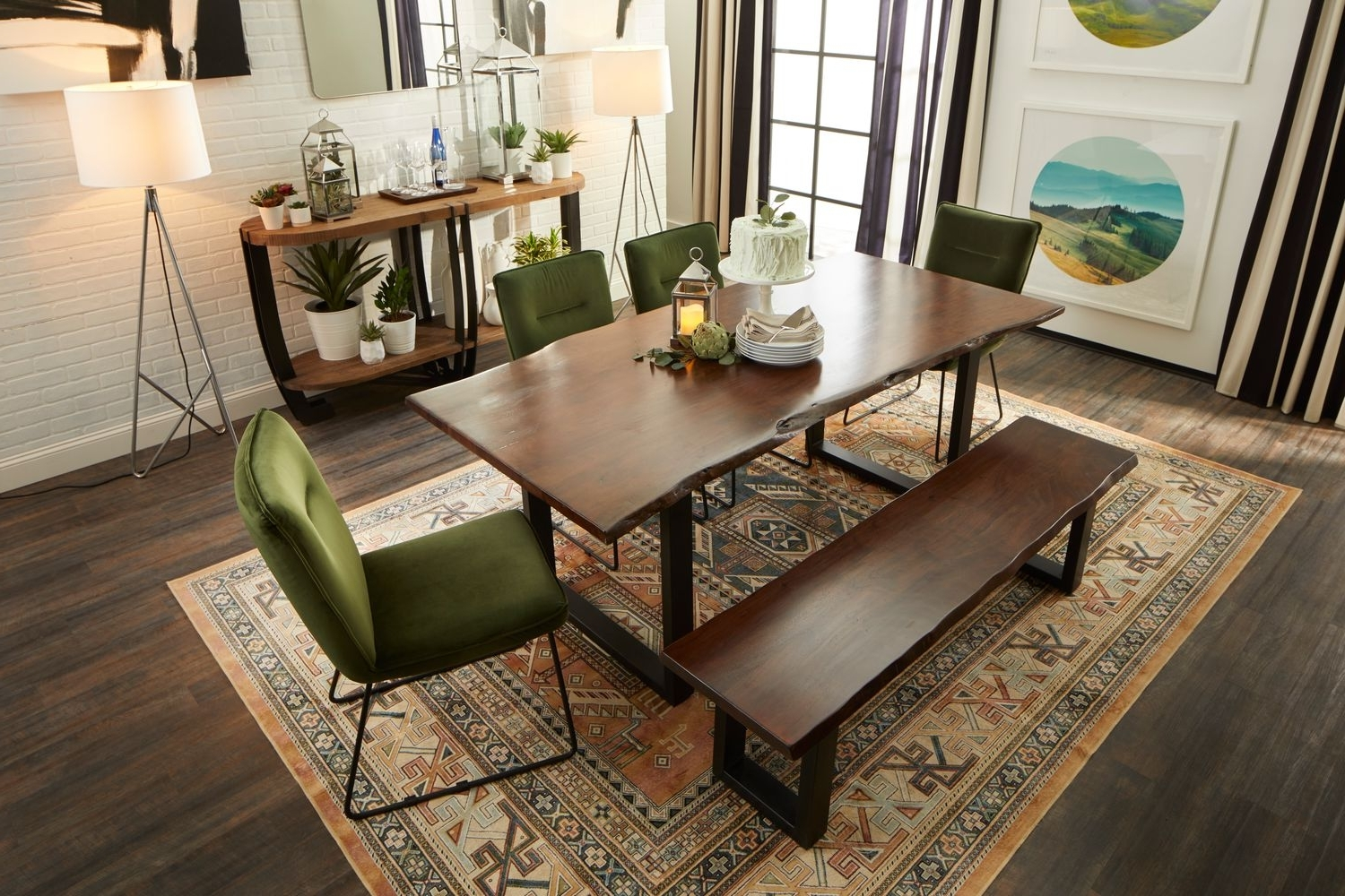 Well Liked Portland Dining Table, 4 Upholstered Side Chairs And Bench – Hunter In Portland Dining Tables (View 23 of 25)