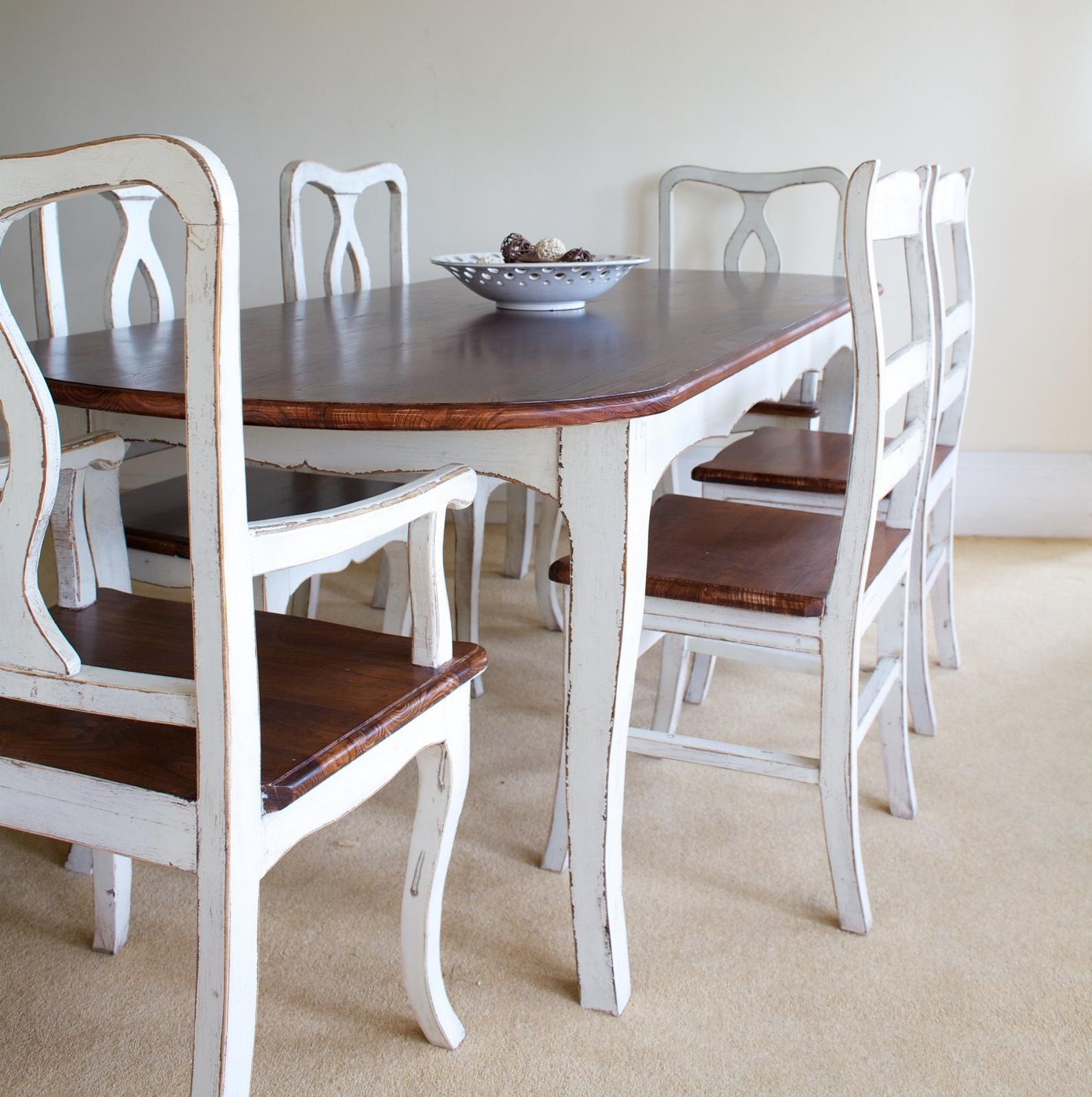 Well Liked Provence Dining Tables Within Shabby Chic Tables Provence Shabby Chic Rounded Edge, Shabby Chic (View 24 of 25)
