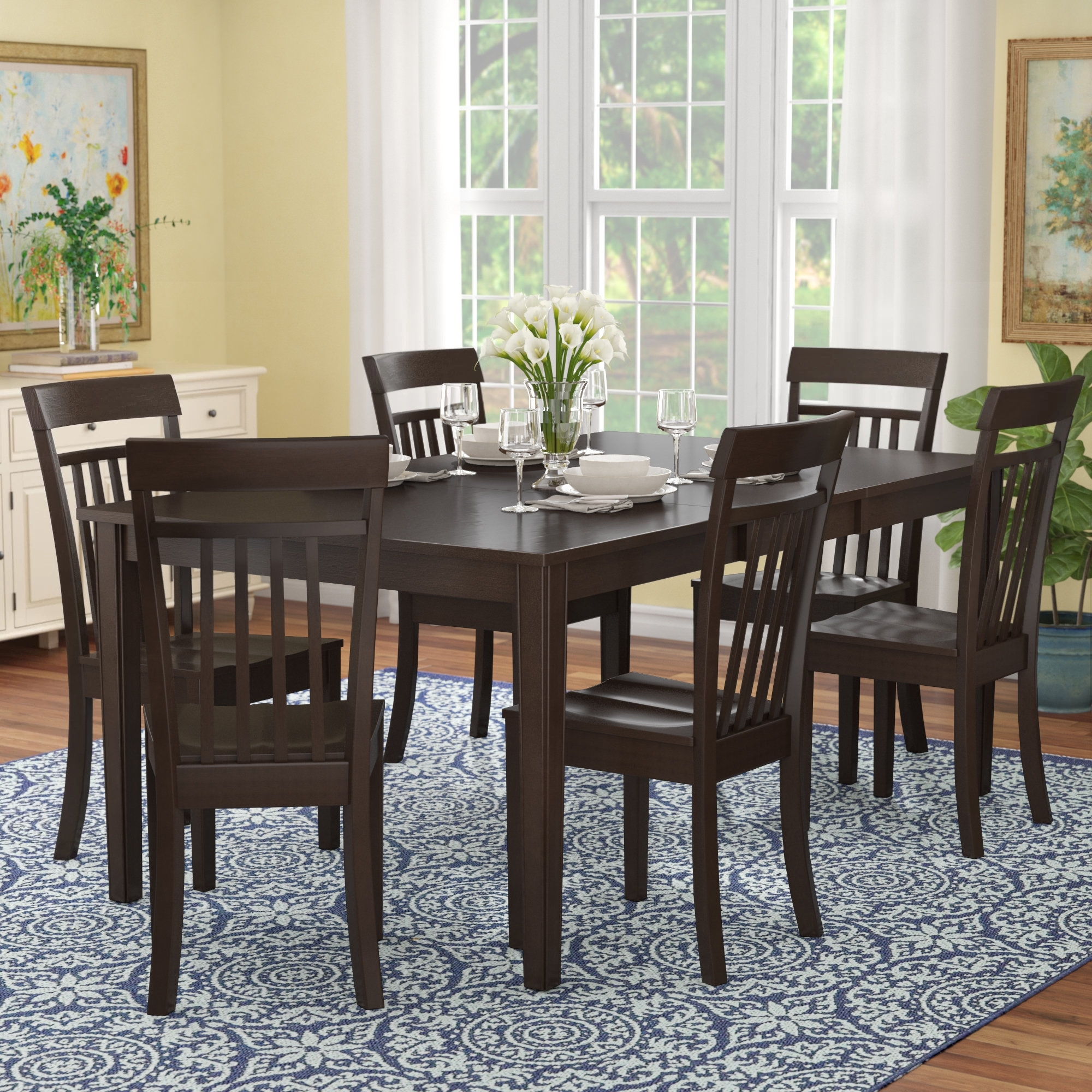 Well Liked Red Barrel Studio Lindstrom 7 Piece Dining Set & Reviews (View 11 of 25)