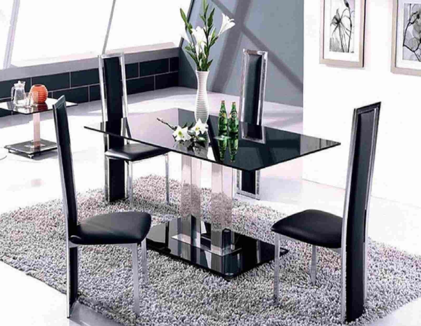 Well Liked Round Glass Dining Table Sets For 4 Beautiful Round Glass Dining Within Dining Room Glass Tables Sets (View 24 of 25)
