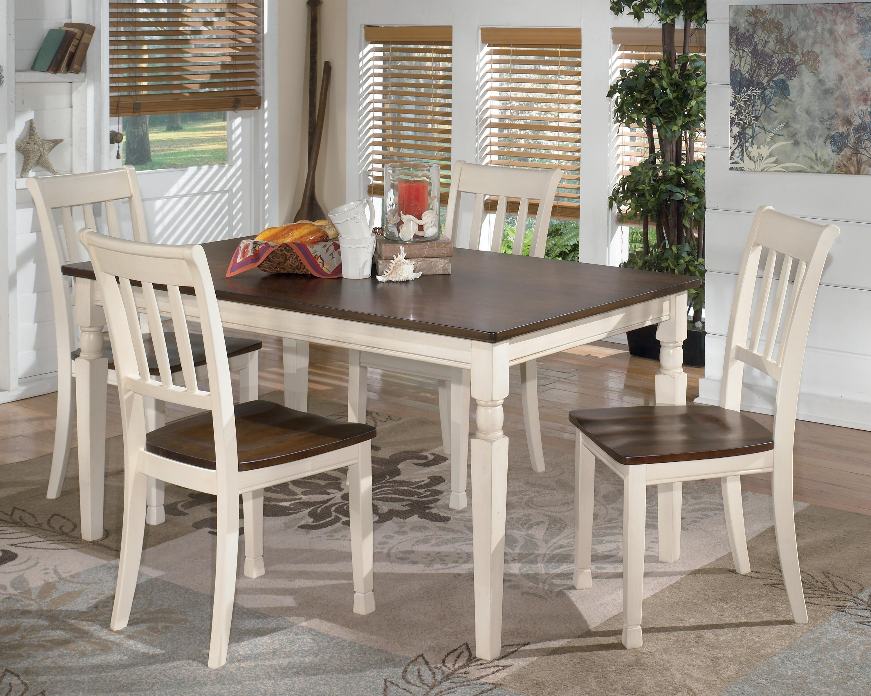 Well Liked Signature Designashley Whitesburg 5 Piece Rectangular Dining For Rectangular Dining Tables Sets (View 25 of 25)
