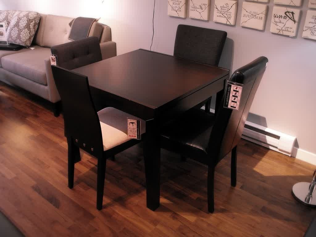 Well Liked Small Room Design: Expandable Dining Room Tables For Small Spaces Pertaining To Small Dark Wood Dining Tables (View 9 of 25)