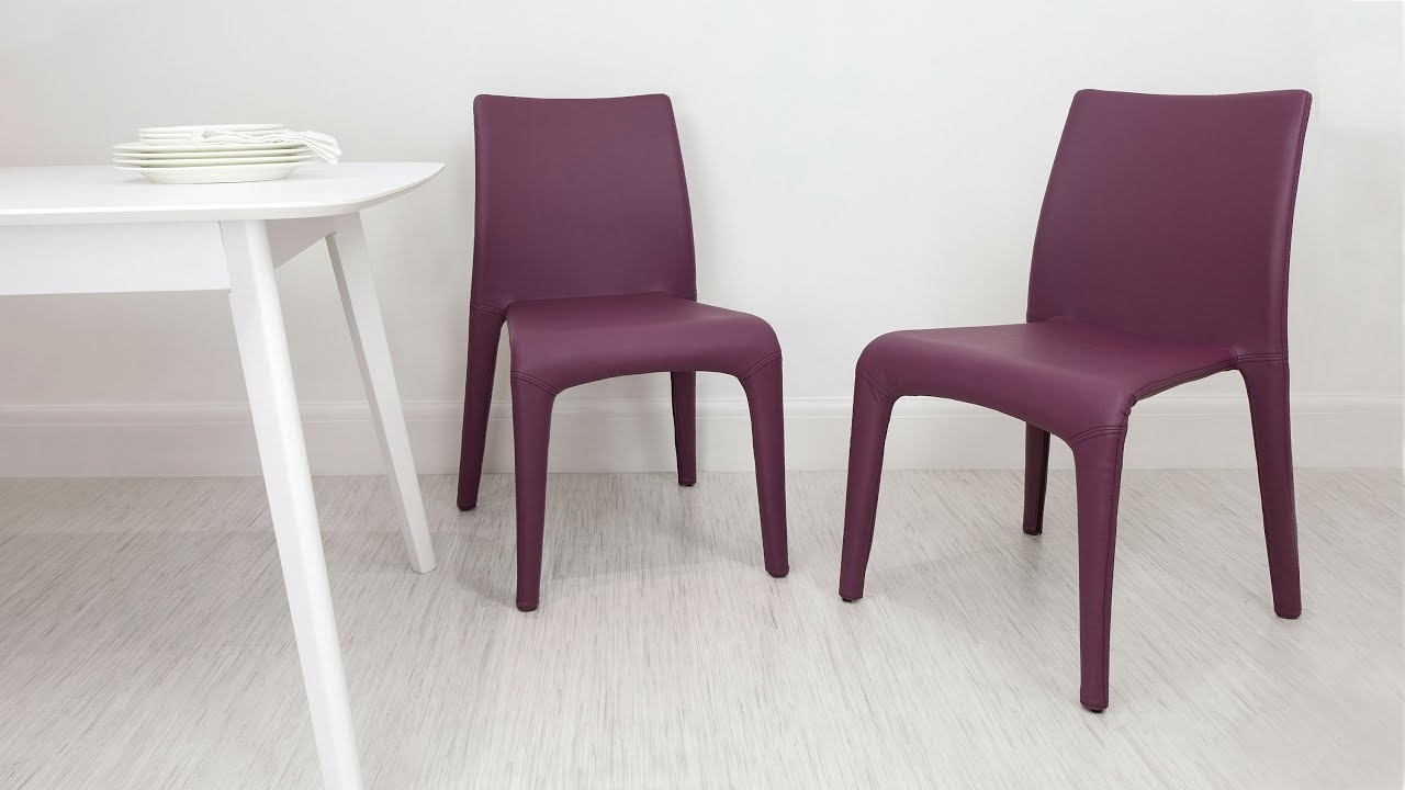 Well Liked Stylish Colourful Faux Leather Dining Chairs – Youtube Inside Stylish Dining Chairs (View 18 of 25)