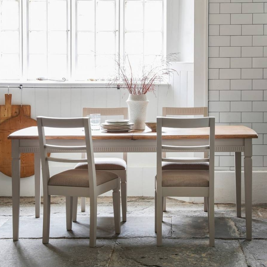 Well Liked Taupe Bronte Extending Dining Table – Brandalley Within Rocco Extension Dining Tables (View 25 of 25)