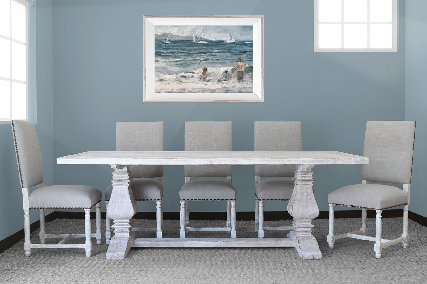 """Well Liked Toscana Dining Tables Pertaining To Salvatore Dining Table 96""""+ Pacifica Chairs Set (View 10 of 25)"""