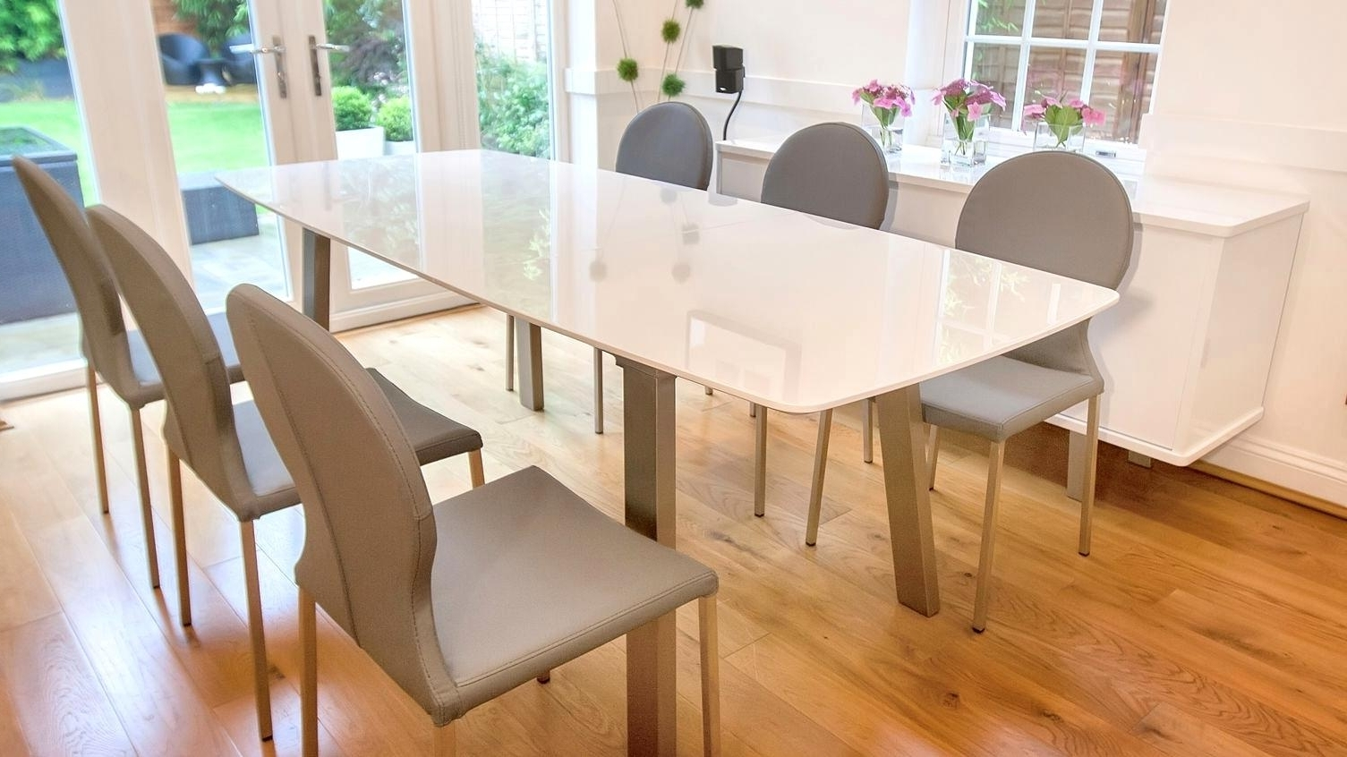 Well Liked Wonderful Set Glass Top Extendable Table Combined Arctic Extendable Within Extendable Dining Table Sets (View 8 of 25)