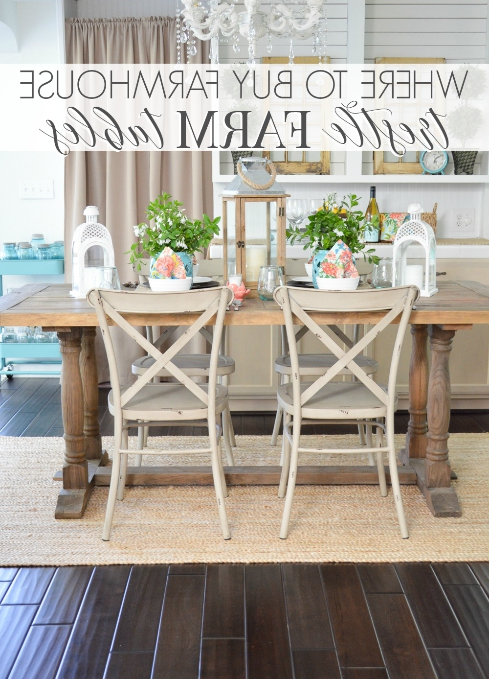 Where To Buy A Farmhouse Trestle Style Farm Table – Fox Hollow Cottage Regarding Well Known Farm Dining Tables (View 15 of 25)