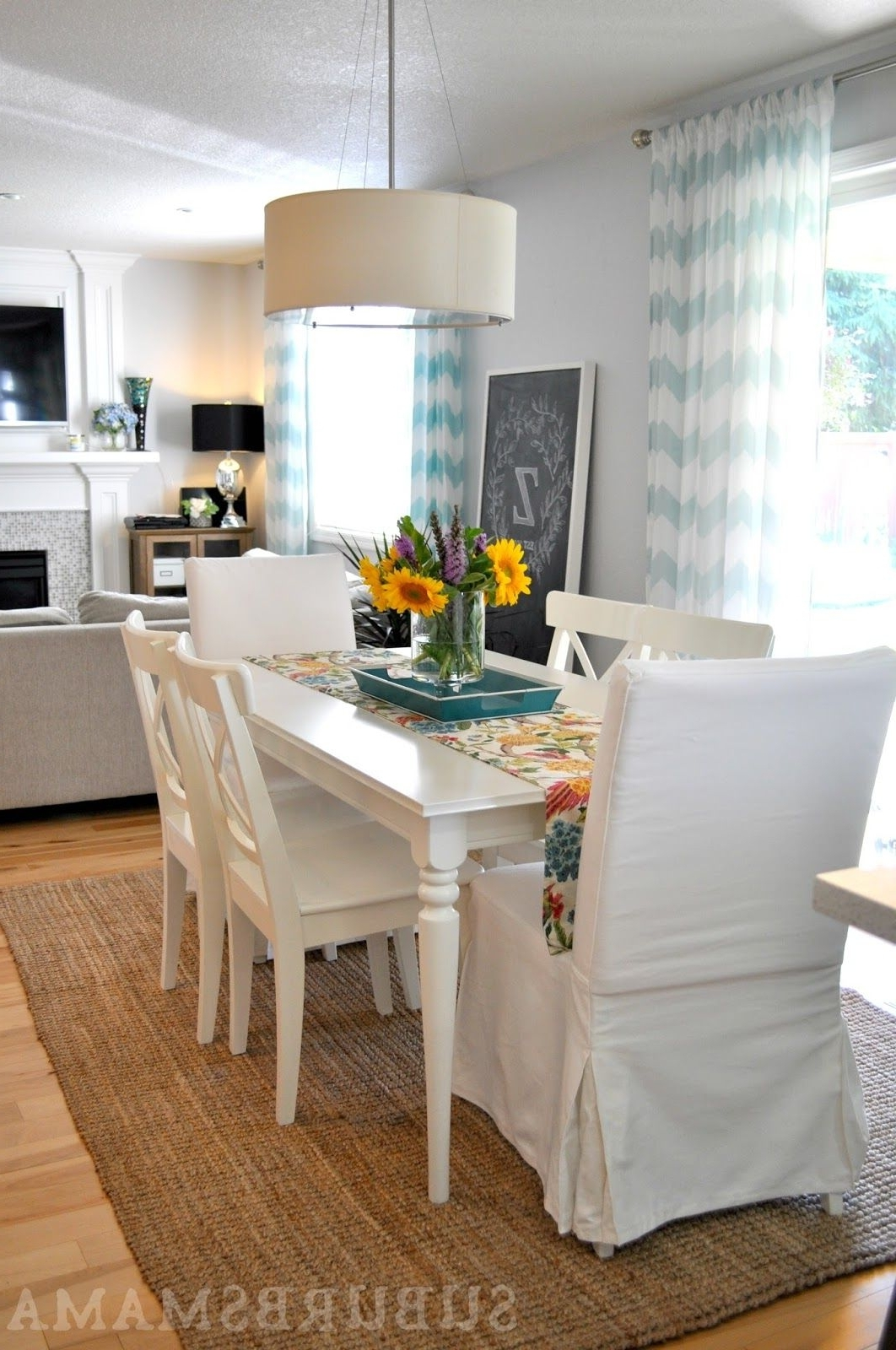 White Dining Room. Ikea Dining Table And Chairs (View 25 of 25)