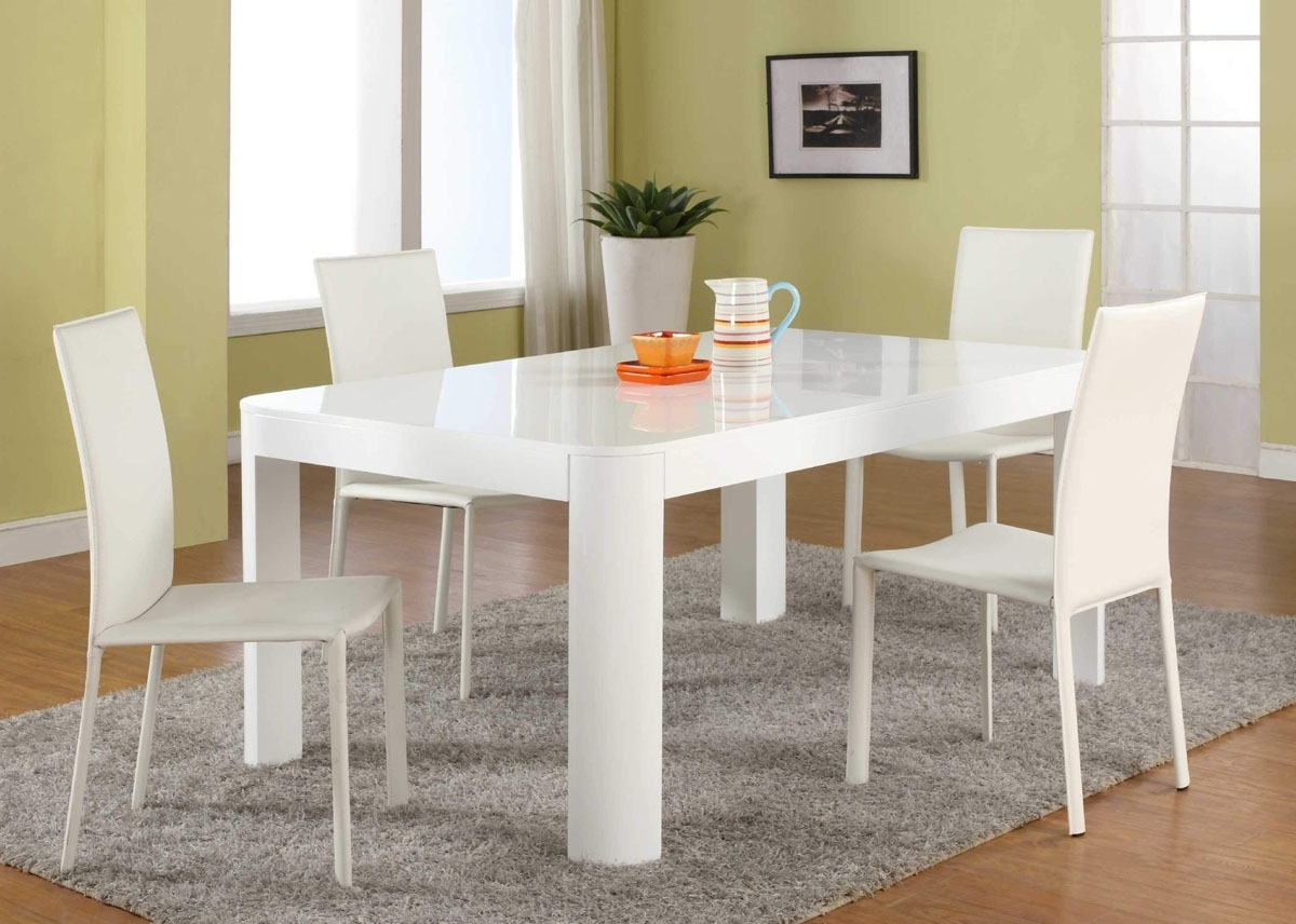 White Dining Room Table Set – Castrophotos For Most Up To Date Small White Dining Tables (View 21 of 25)