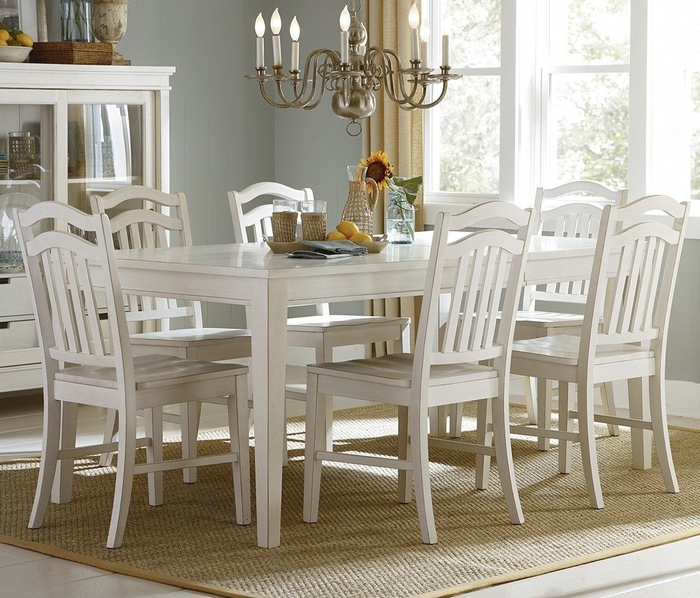 White Dining Sets With Regard To Trendy White Dining Room Sets For Sale Solid Wood Dining Table And Chairs (View 12 of 25)