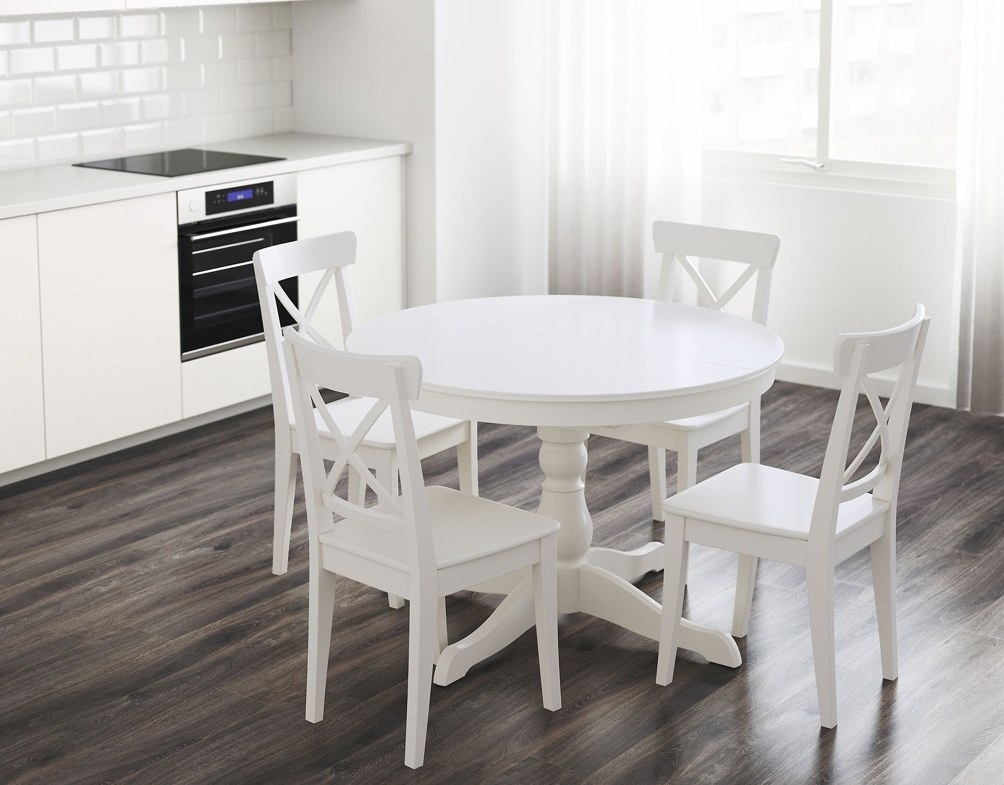 White Dining Suites Regarding Newest Round Dining Tables (View 24 of 25)