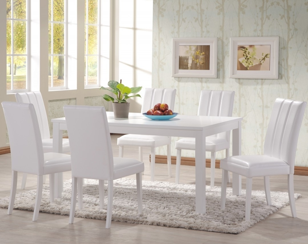 White Dining Suites With 2017 Dining: White Dining Room Suites (View 22 of 25)