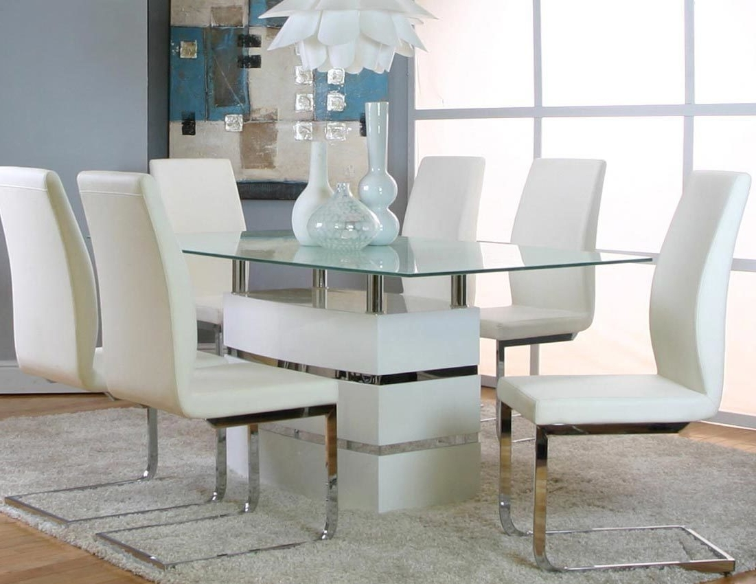 White Dining Tables Sets In Most Popular Altair White Table + 4 Chairs G5001 735 Cramco Dining Room Sets (View 22 of 25)