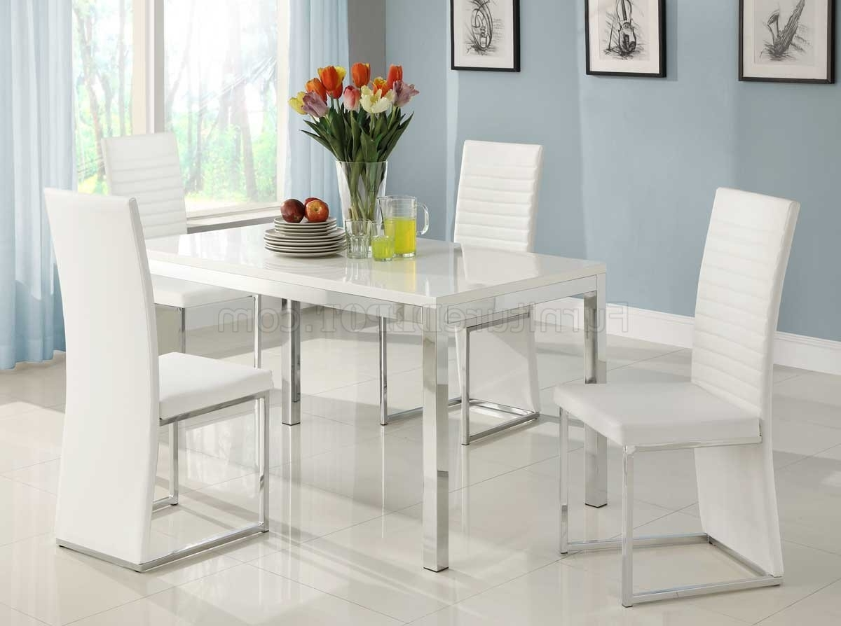 White Dining Tables Sets Regarding 2017 2447 Clarice Dining Tablehomelegance In White W/options (View 22 of 25)