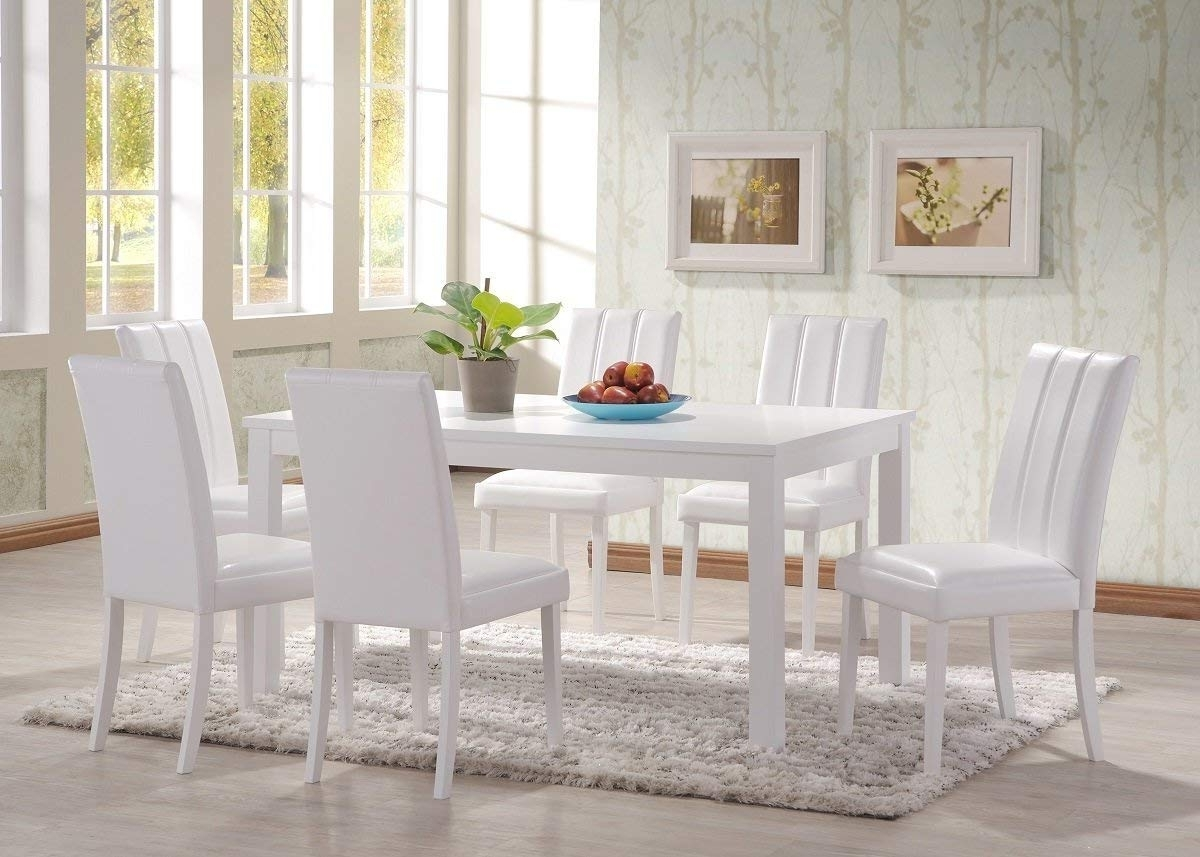 White Dining Tables With 6 Chairs For Favorite Hgg 7 Piece Dining Table And Chairs – White Dining Table And Chairs (View 21 of 25)