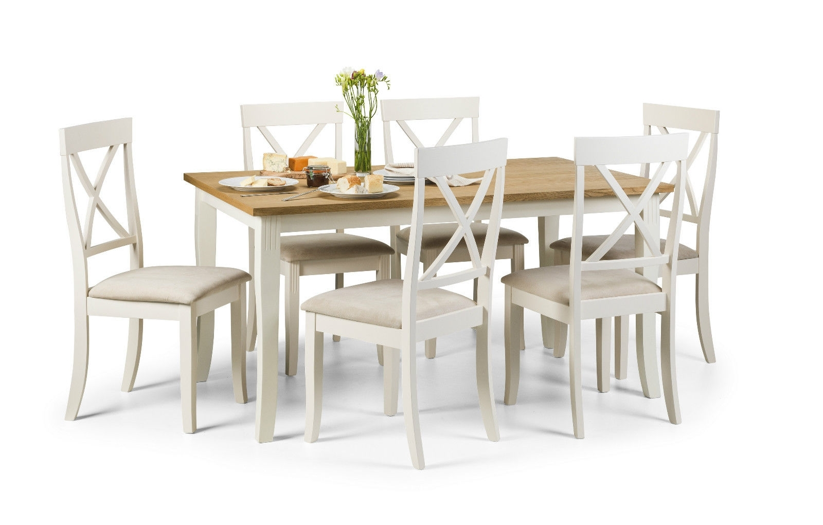 White Dining Tables With 6 Chairs For Preferred White Oak Dining Room Set Herman Miller Dining Chairs (View 22 of 25)