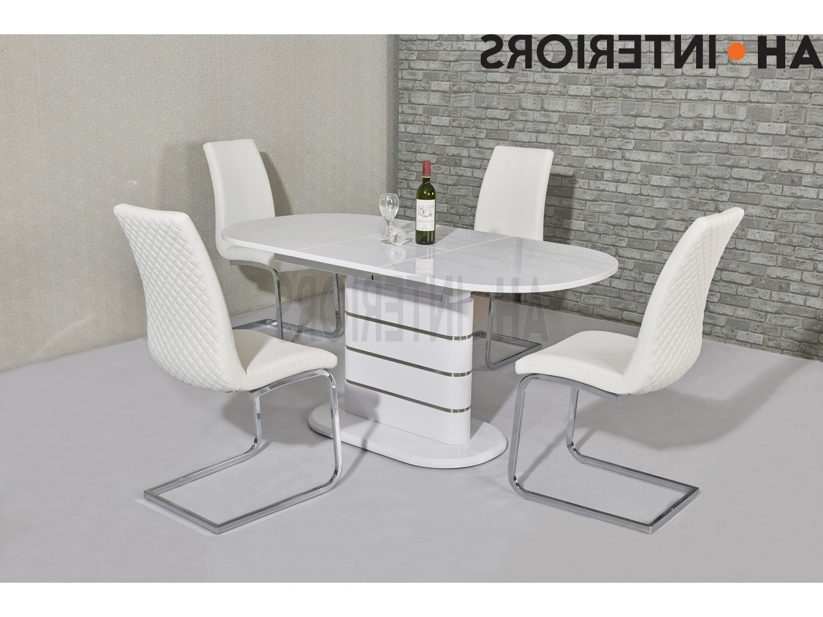 White Extendable Dining Tables And Chairs In Widely Used Niomi White Extendable Dining Table (View 22 of 25)