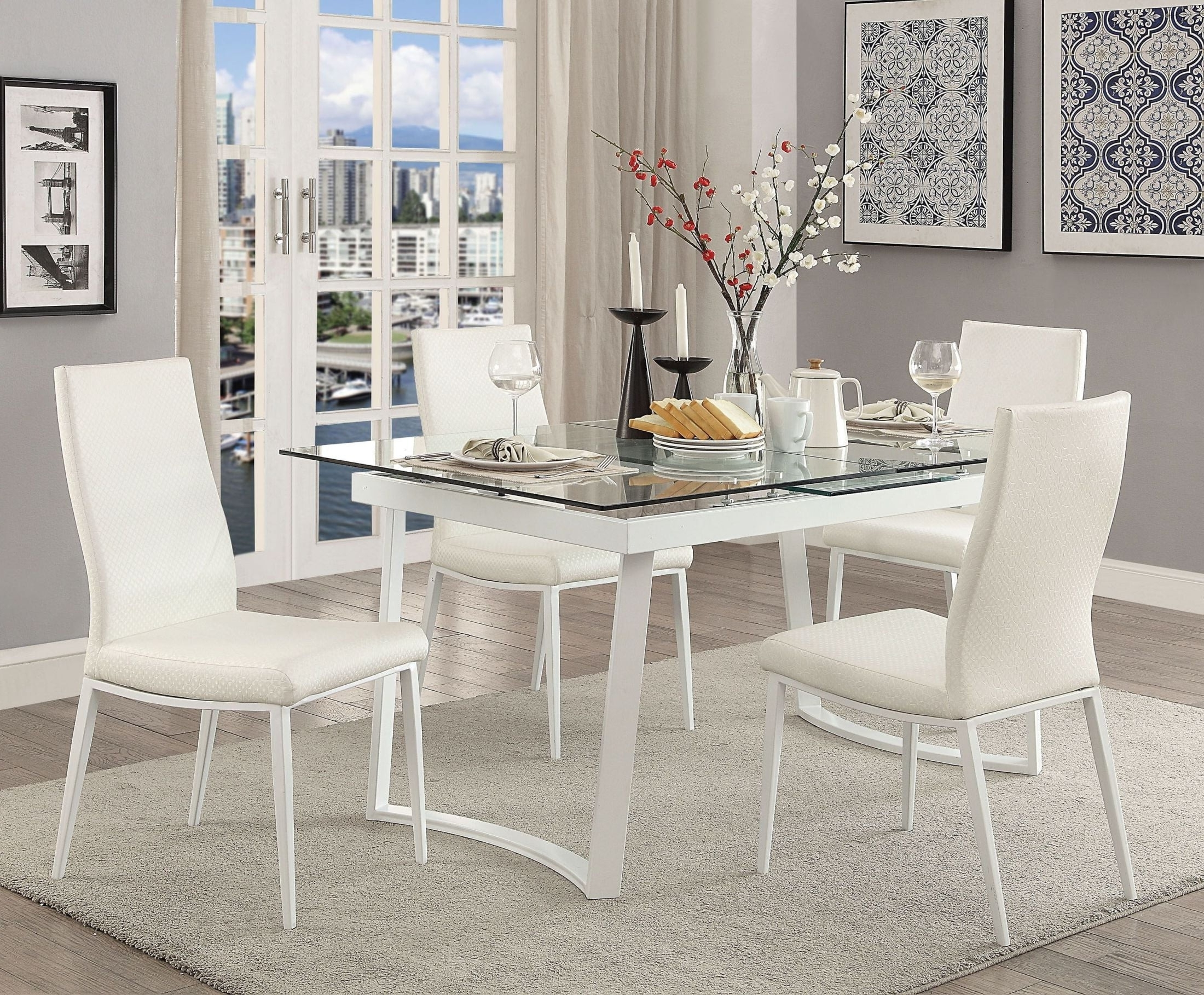 White Extendable Dining Tables And Chairs Inside 2017 Furniture Of America Miriam White Extendable Dining Table – Miriam (View 23 of 25)