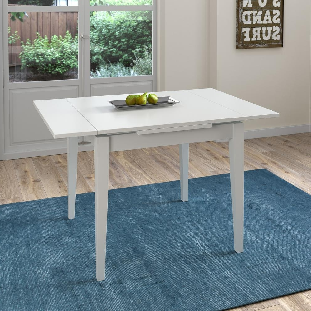 White Extendable Dining Tables Intended For Most Recent Corliving Dillon White Wood Extendable Dining Table Dsh 210 T – The (View 22 of 25)