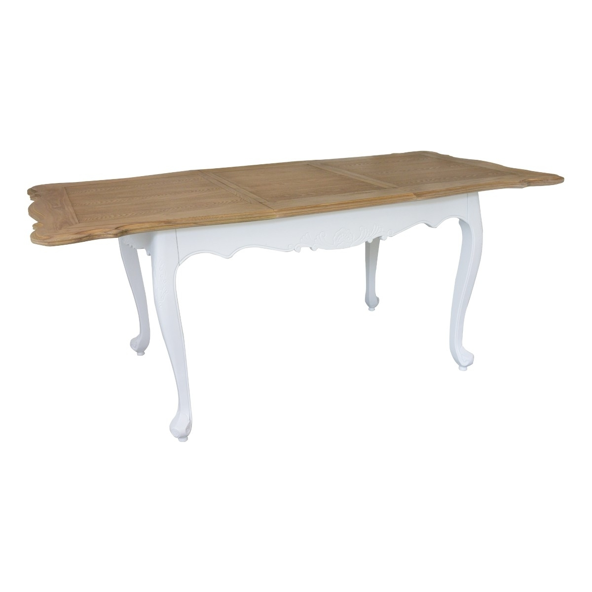 White Extendable Dining Tables Pertaining To Most Up To Date French Provincial Furniture White Extendable Dining Table With (View 25 of 25)