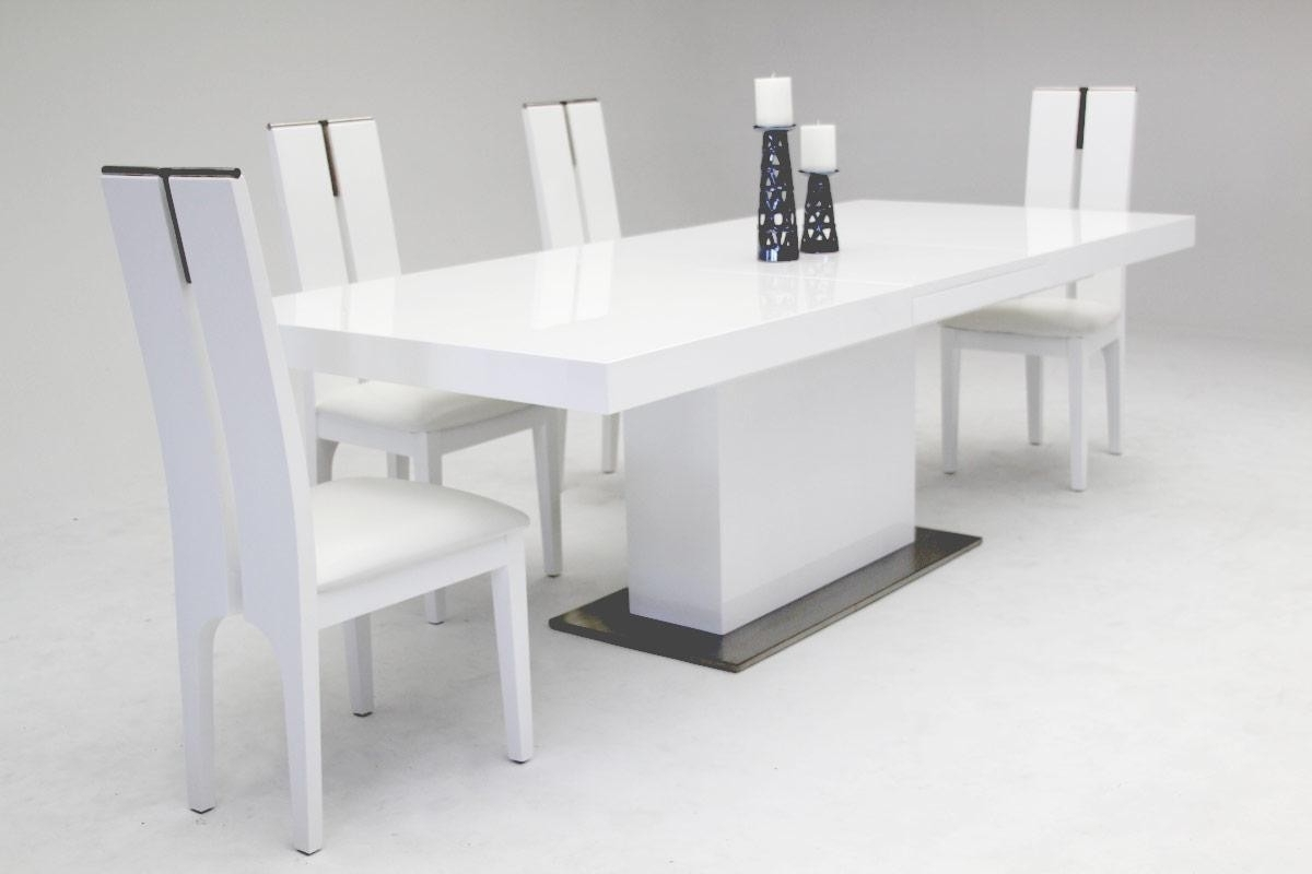 White Extendable Dining Tables With 2017 Contemporary & Luxury Furniture; Living Room, Bedroom,la Furniture (View 23 of 25)