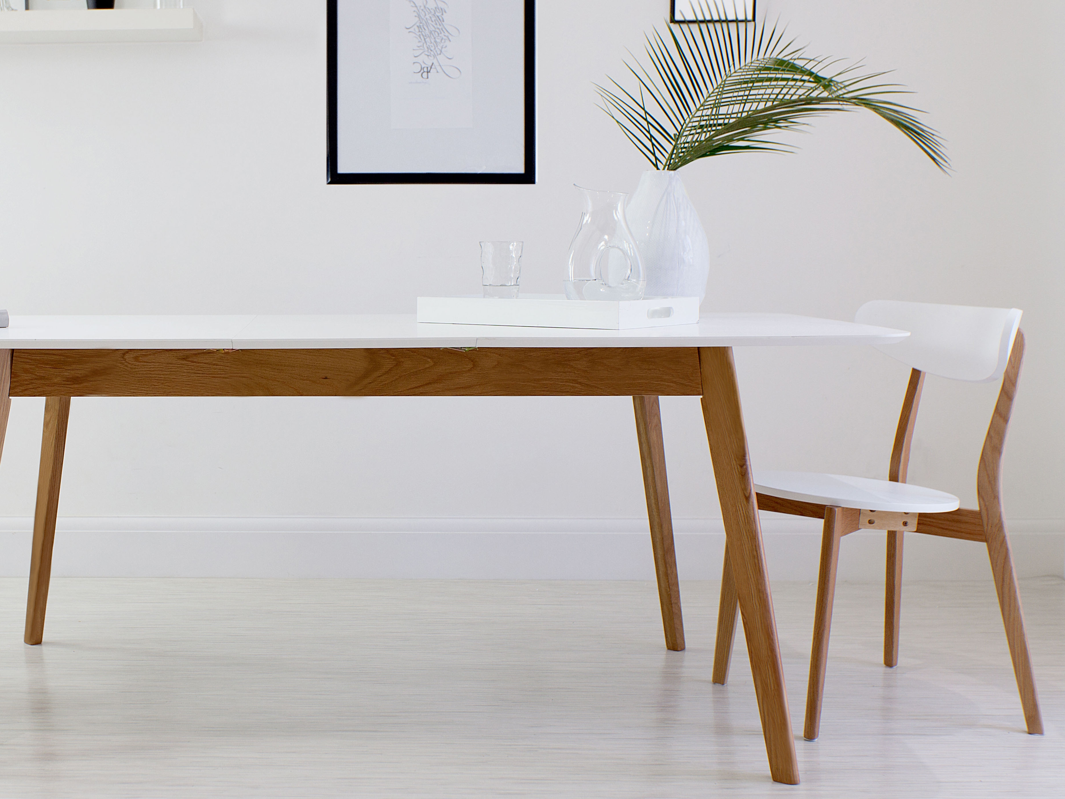 White Extending Dining Tables In Recent White Oak Table (View 4 of 25)