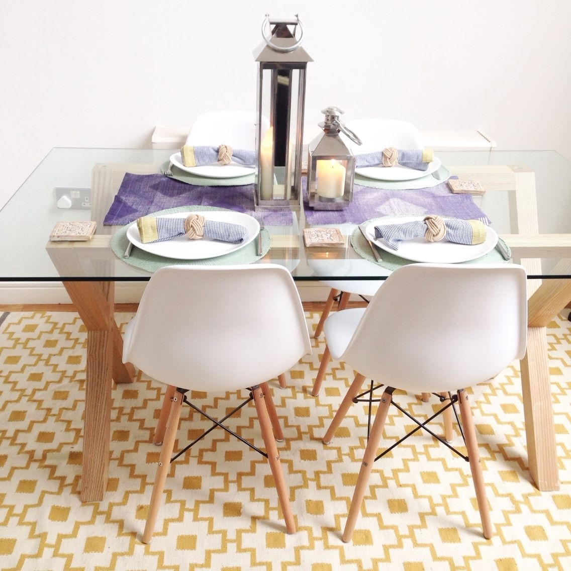 White Glass Dining Tables And Chairs Within Most Popular Scandinavian Style Dining Area – John Lewis Oak And Glass Dining (View 10 of 25)