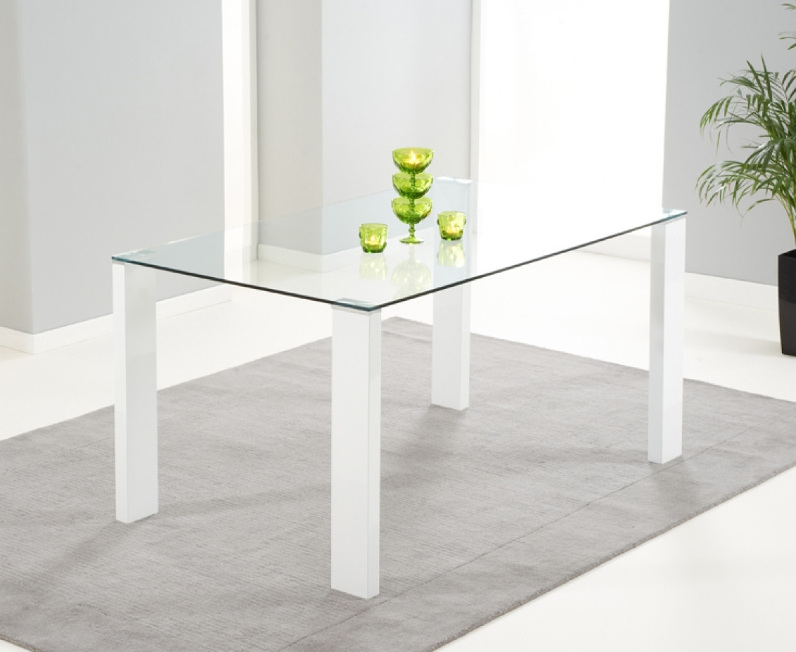 White Gloss And Glass Dining Tables With Most Up To Date Lavina 150Cm White High Gloss And Glass Dining Table (View 13 of 25)
