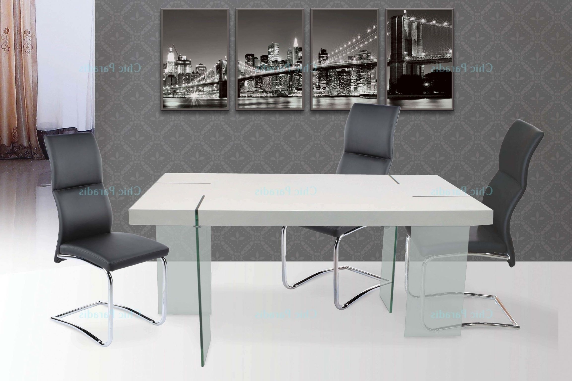 White Gloss And Glass Dining Tables With Regard To Most Up To Date Buy Ultra Modern White Gloss Dining Table (View 18 of 25)