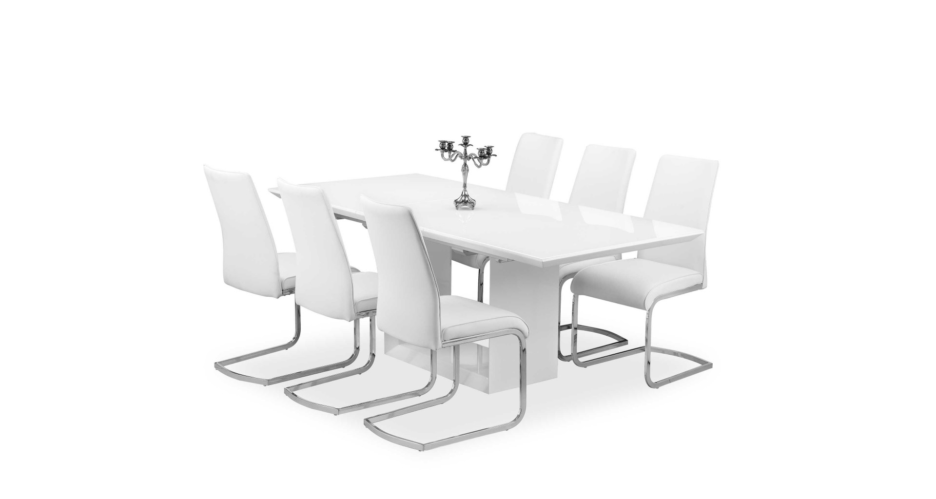 White Gloss Dining Room Furniture Pertaining To Fashionable Soho – Extending Dining Table – White High Gloss (View 21 of 25)