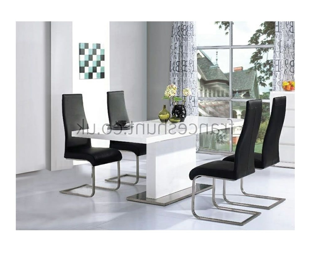 White Gloss Dining Room Tables Pertaining To Most Recently Released Marconi White High Gloss Dining Table (View 24 of 25)