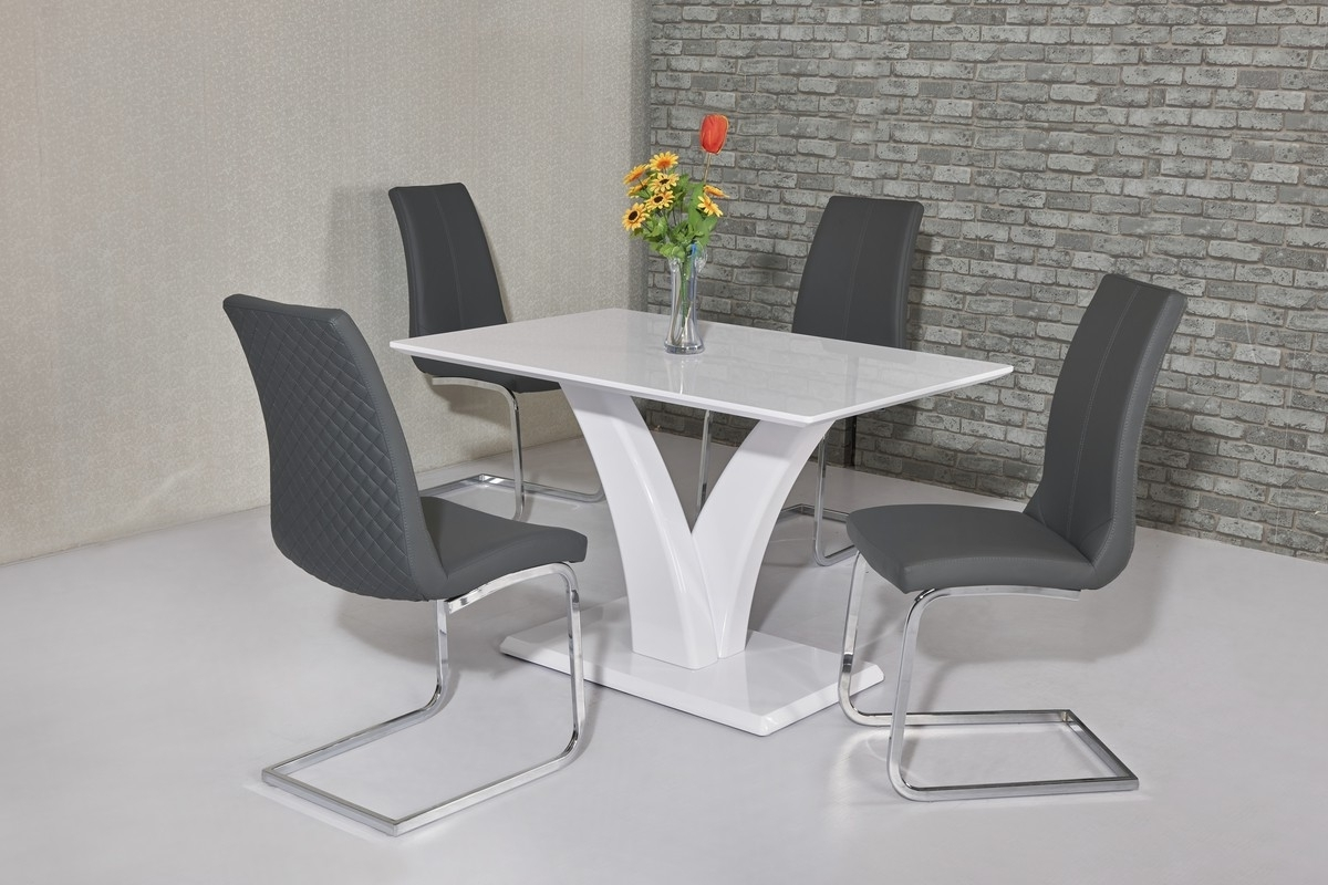White Gloss Dining Tables 120Cm Intended For Recent Wow Slim High Gloss White 120 Cm Dining Table (View 3 of 25)