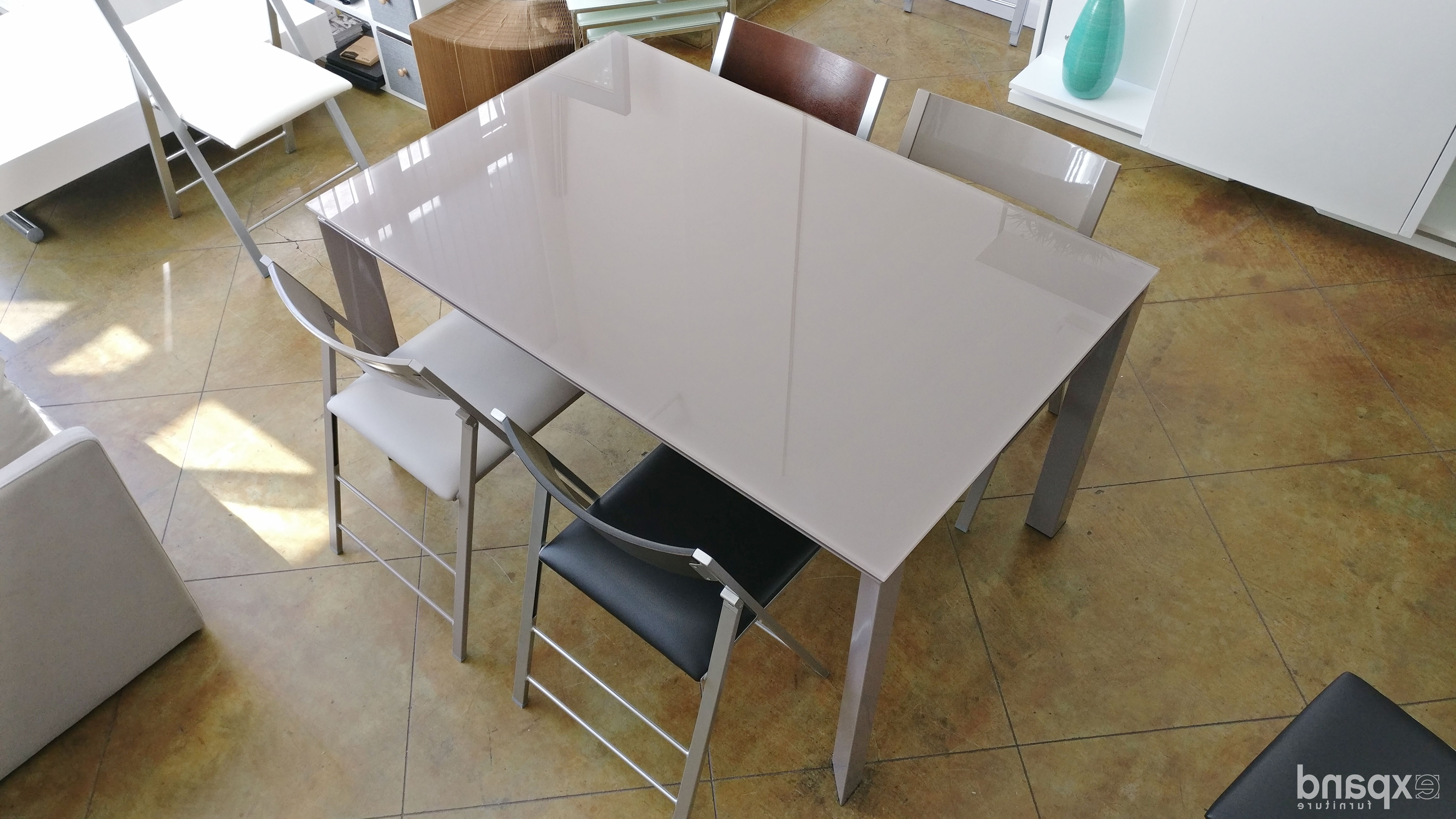White Gloss Dining Tables 140Cm Throughout Preferred The Frame: Rectangle To Square Extendable Table (View 24 of 25)