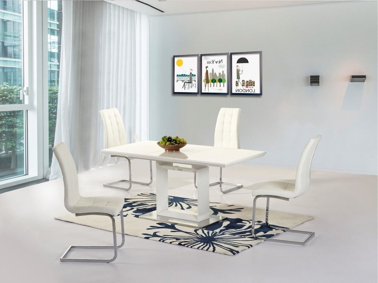 White Gloss Extendable Dining Tables In 2017 White High Gloss Extending Dining Table And 6 Chairs – Homegenies (View 13 of 25)