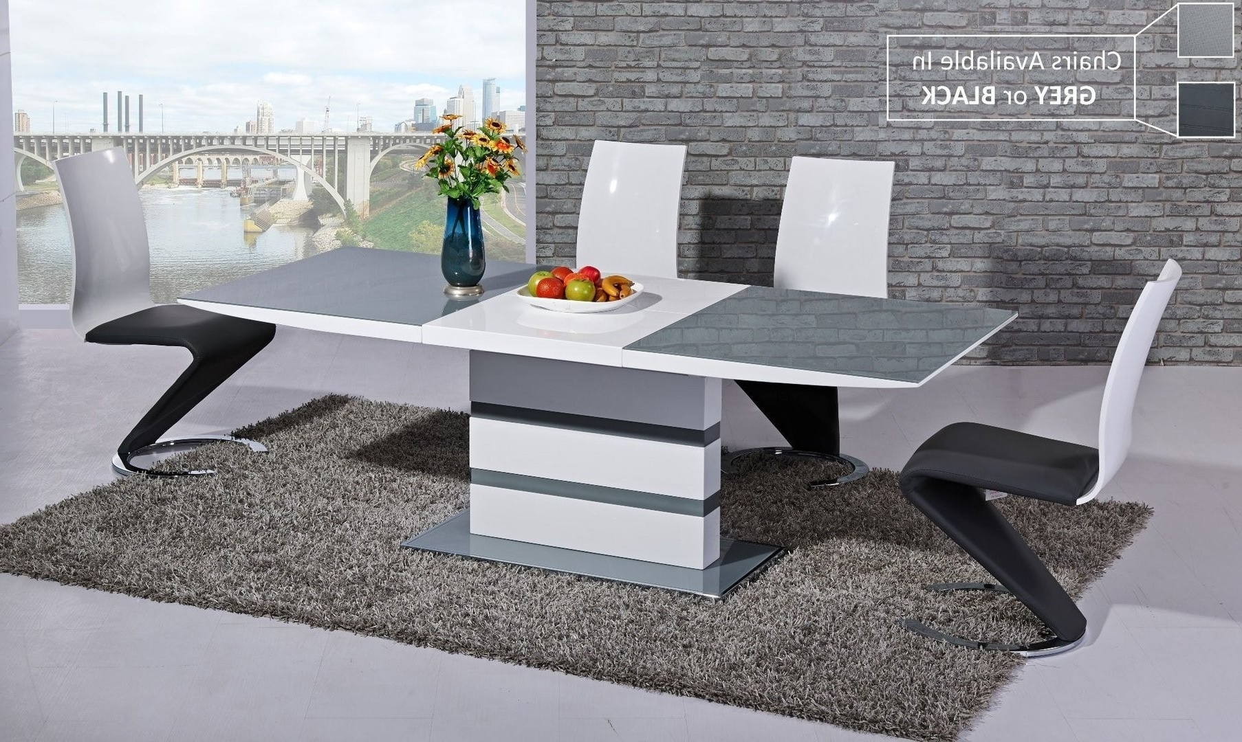 White High Gloss Extending Dining Table Inspirational High Gloss Within Most Up To Date Black High Gloss Dining Tables And Chairs (View 23 of 25)