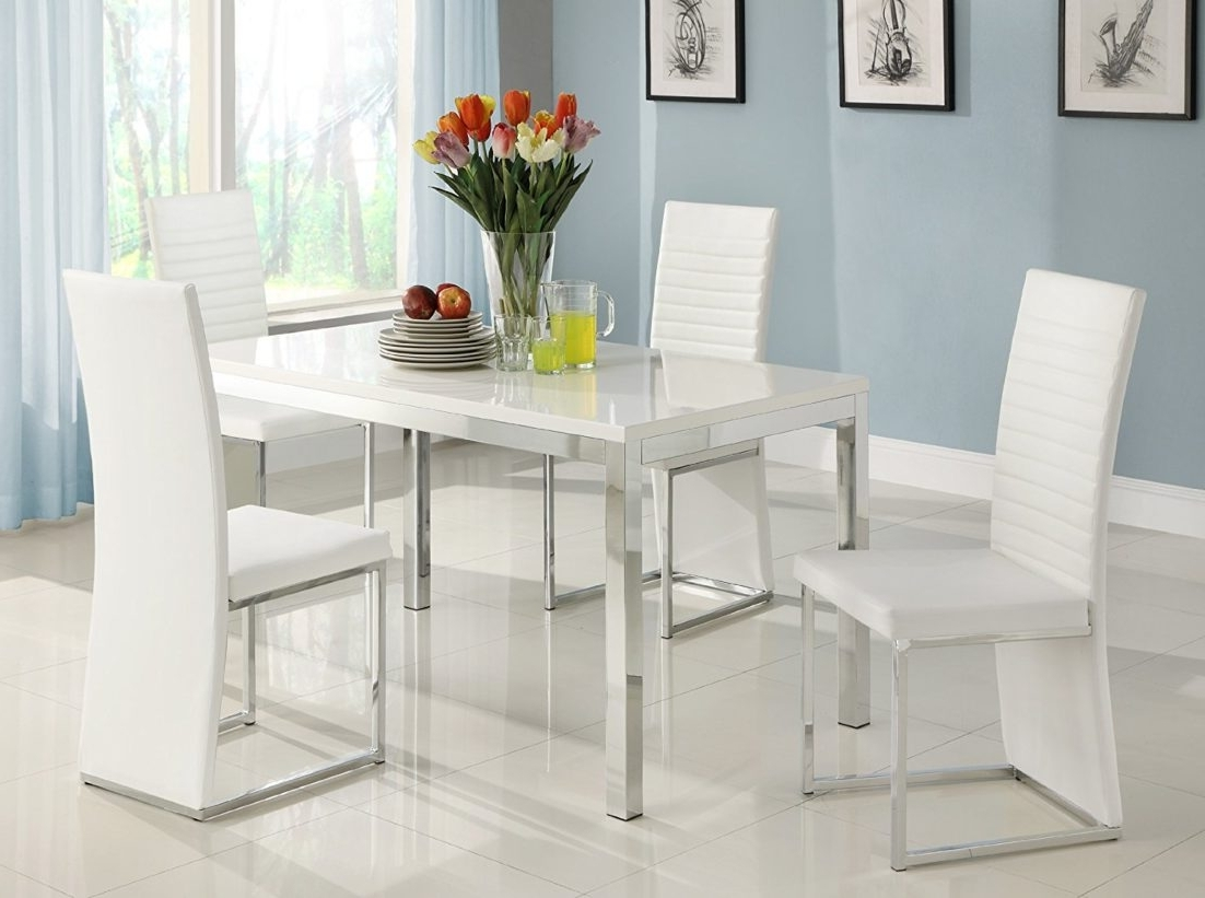 White Kitchen Table And Chairs Small Dinette Sets Dining With With Popular Small White Dining Tables (View 15 of 25)