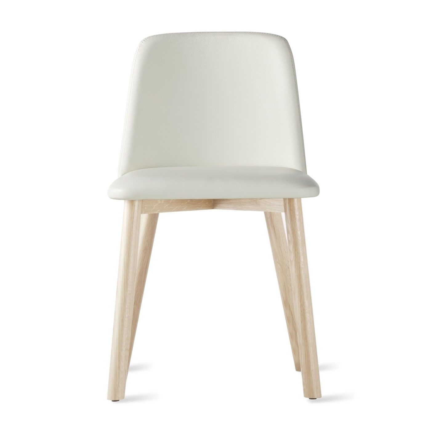 White Leather Dining Chairs Intended For Well Known Chip Leather Chair (View 21 of 25)
