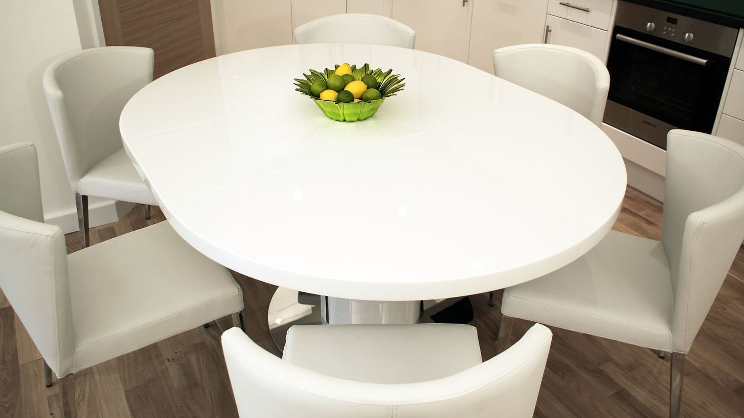 White Round Extendable Dining Tables Regarding Fashionable Morph Grey Extendable Dining Table Open Listed Extending Curva Round (View 10 of 25)