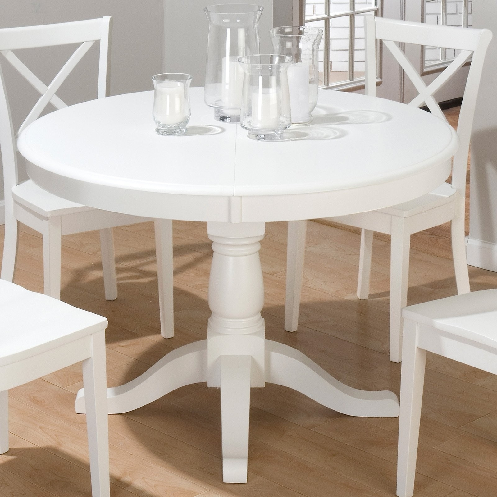 White Round Extendable Dining Tables regarding Newest Extendable Dining Tables For Small Spaces Inspirational White Round