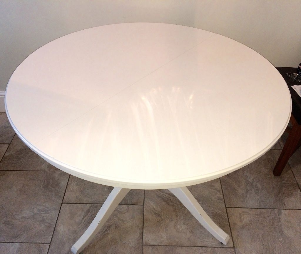 White Round Extending Dining Tables Regarding Best And Newest Reduced For Quick Sale**ikea Ingatorp Round Extending Dining Table (View 6 of 25)
