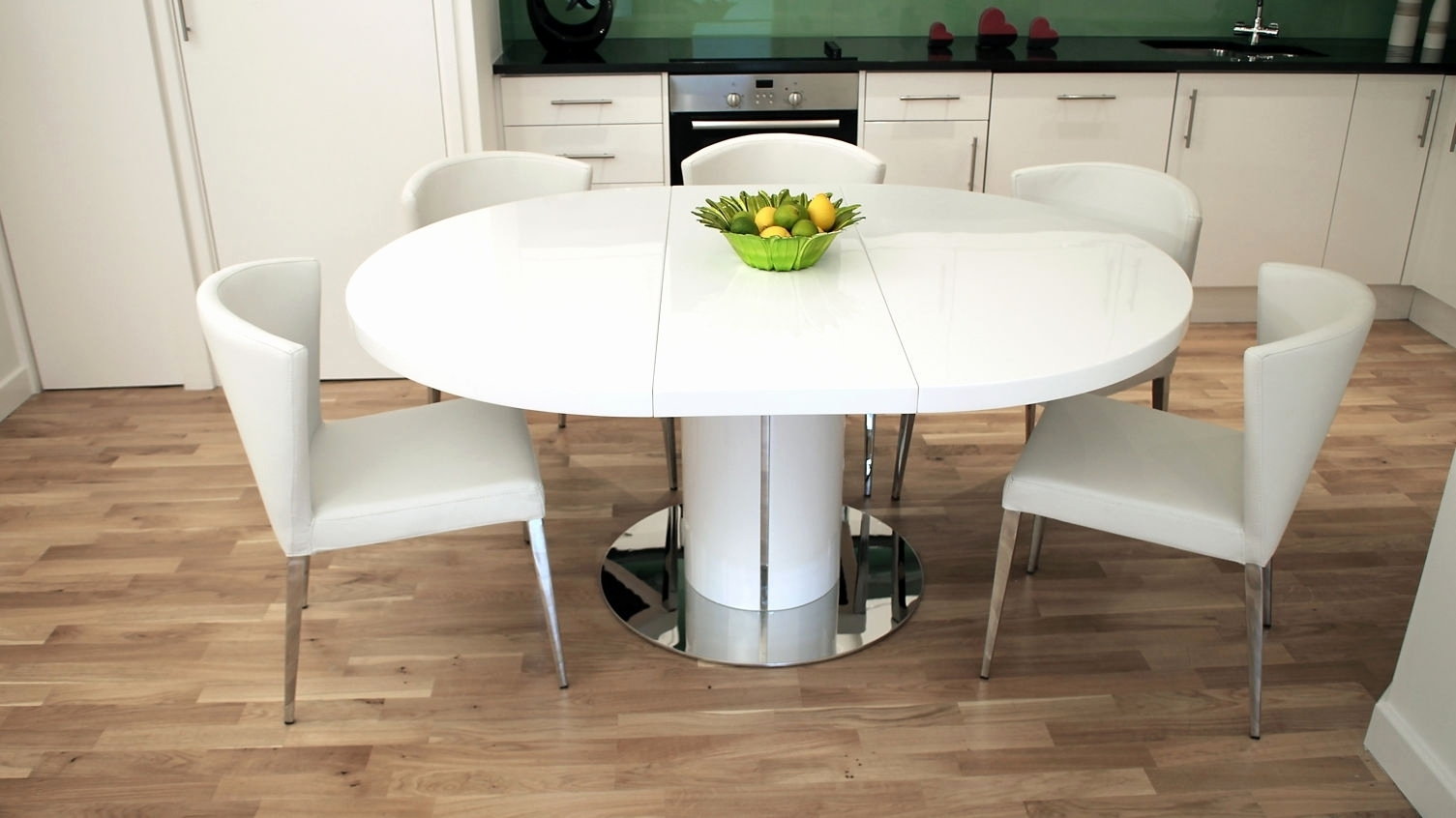 White Round Modern Kitchen Table Luxury Full White High Gloss Round In Newest White Round Extending Dining Tables (View 20 of 25)