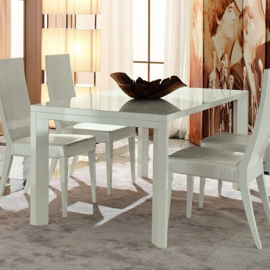 White Square Extending Dining Tables Pertaining To Most Popular Design Ideas: Fascinating Dining Set Furniture For Dining Room (View 12 of 25)