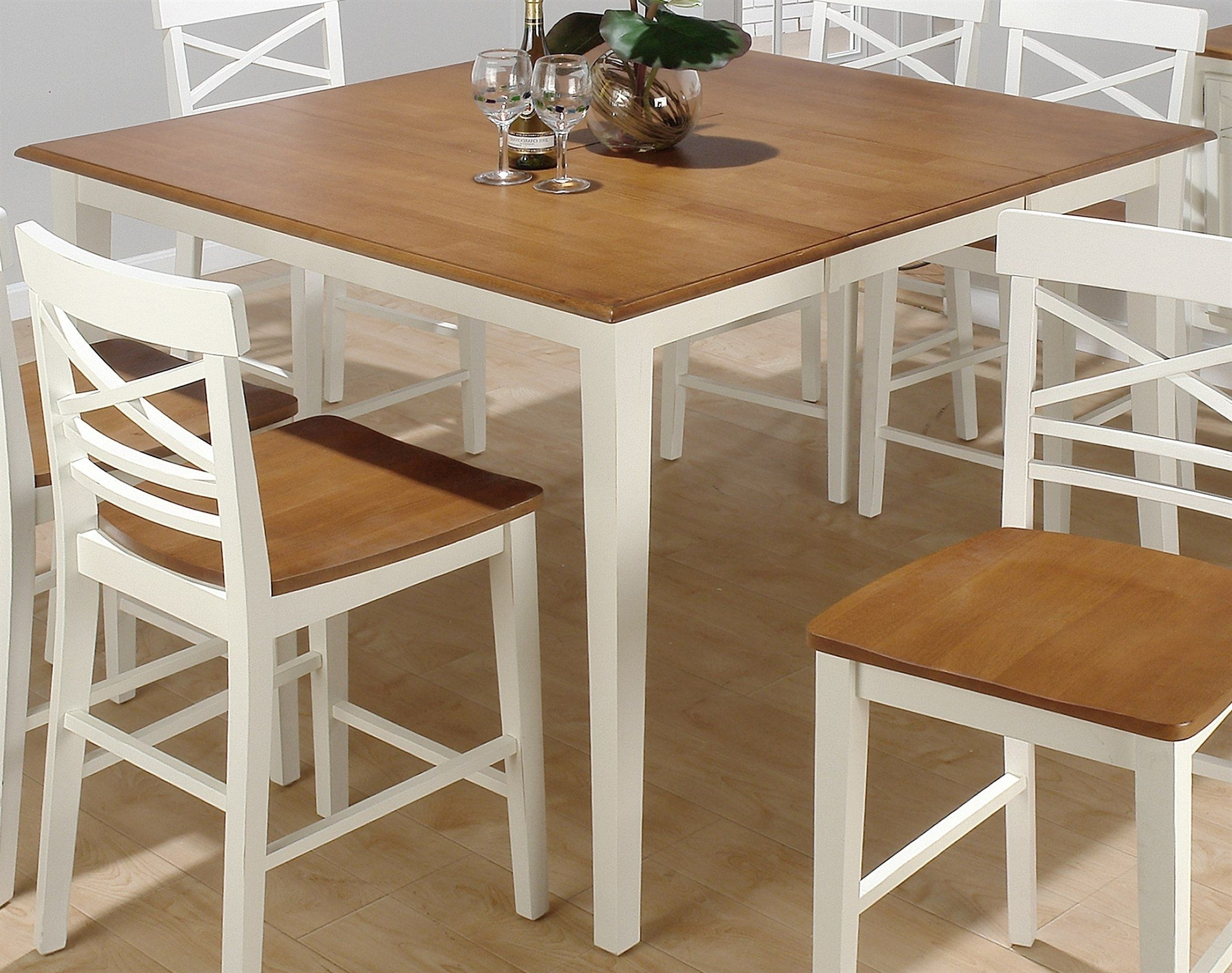 White Square Extending Dining Tables Within Best And Newest Interior Inspiration Furniture Surprising Solid Brown Square (View 18 of 25)