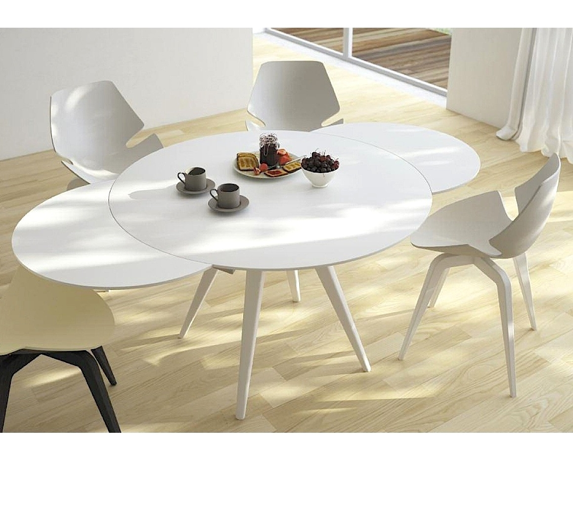 White Washed Dining Table Extendable Dining Table Whitewash White Pertaining To Well Known Round White Extendable Dining Tables (View 25 of 25)