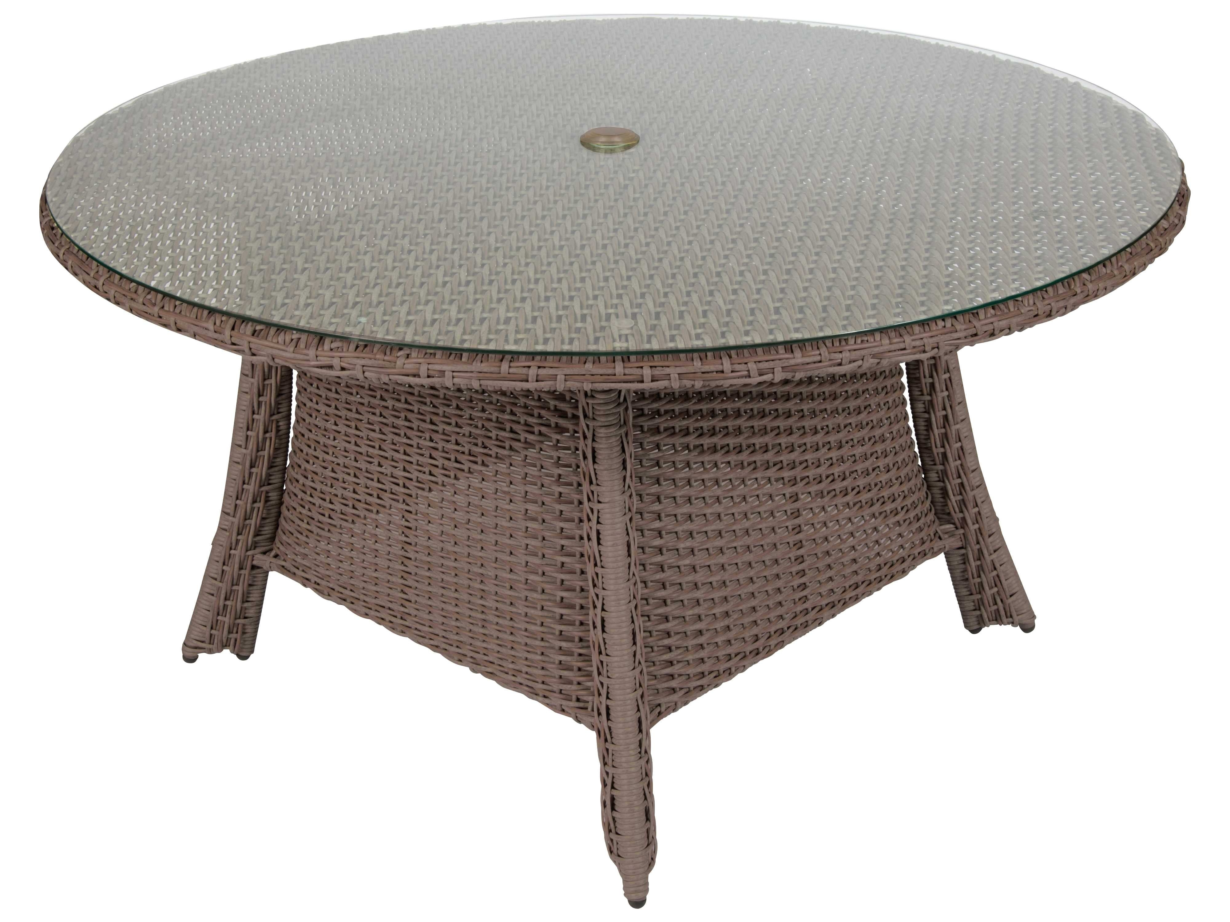 Wicker And Glass Dining Tables With 2017 Creative Round Wicker Patio Dining Table For Whitecraft Augusta (View 20 of 25)