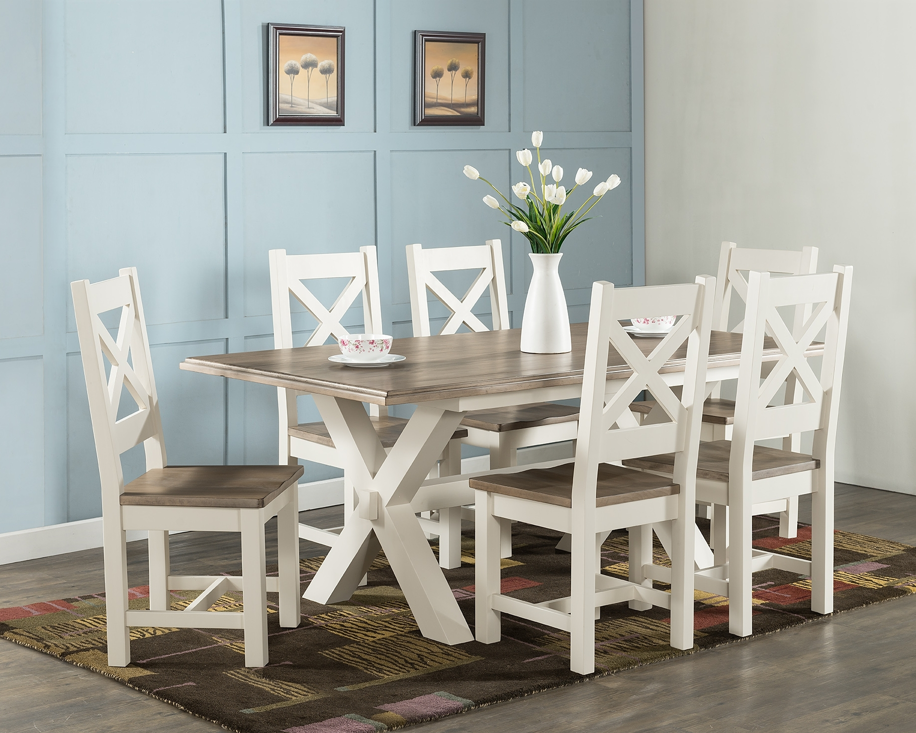 Widely Used 180Cm Dining Tables With Portland 180Cm X Frame Dining Table – Upstairs Downstairs (View 24 of 25)