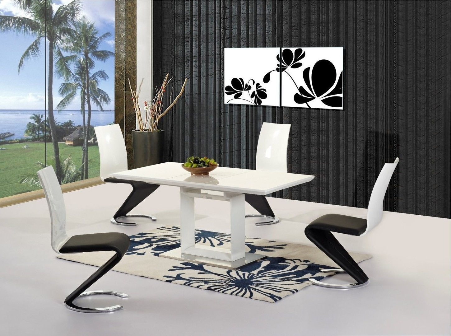 Widely Used 51 High Table And Chair Set, Round Glass Dining Room Table Sets For Hi Gloss Dining Tables Sets (View 21 of 25)