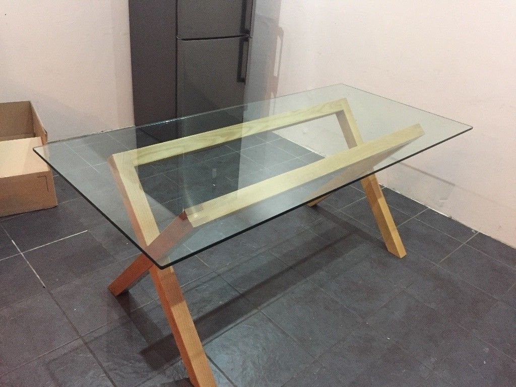 Widely Used 6 Seater Heal's Oak And Glass Dining Table (View 24 of 25)