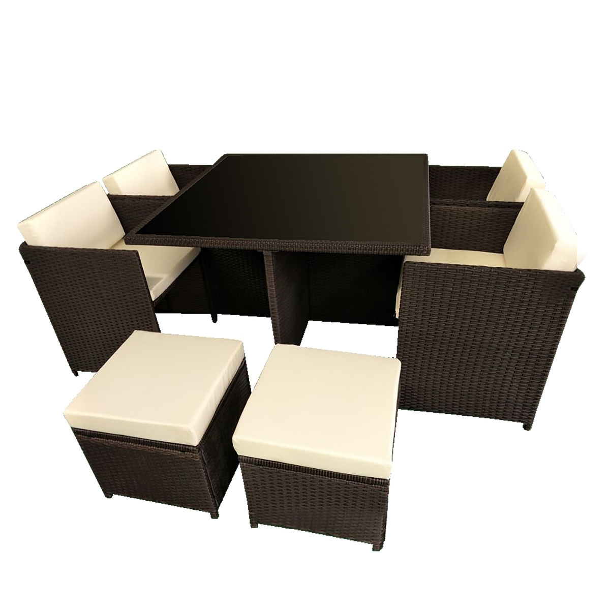 Widely Used 8 Seater Cube Outdoor Dining Table & Seat Set (View 25 of 25)
