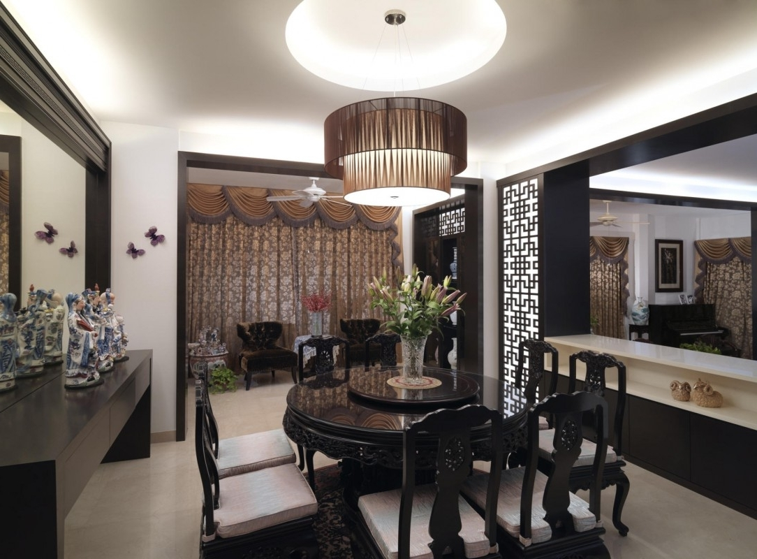 Widely Used Asian Dining Tables Within Asian Dining Room Design With Black Furniture With Splendid (View 9 of 25)